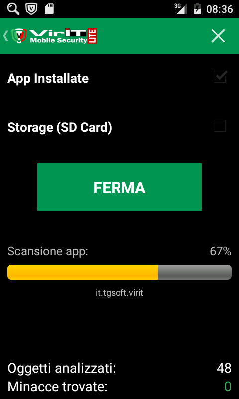 Anti-Virus di VirIT Mobile Security