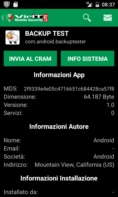 Gestione App di VirIT Mobile Security