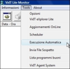 Invia file in Esecuzione Automatica - Vir.IT Lite Monitor