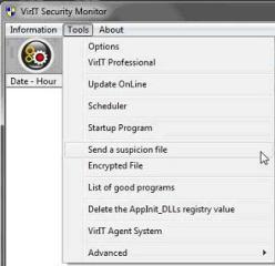 Send a suspicion file - Vir.IT Security Monitor