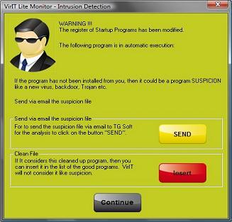 Send a suspicion file - Vir.IT Intrusion Detection