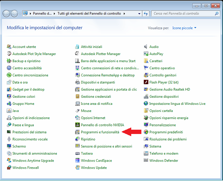 Installazione Applicazioni/Programmi e funzionalit�