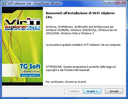 Installare Vir.IT eXplorer Lite