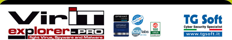 TG Soft Software House - Vir.IT eXplorer: l'AntiVirus, AntiSpyware e AntiMalware ITALIANO