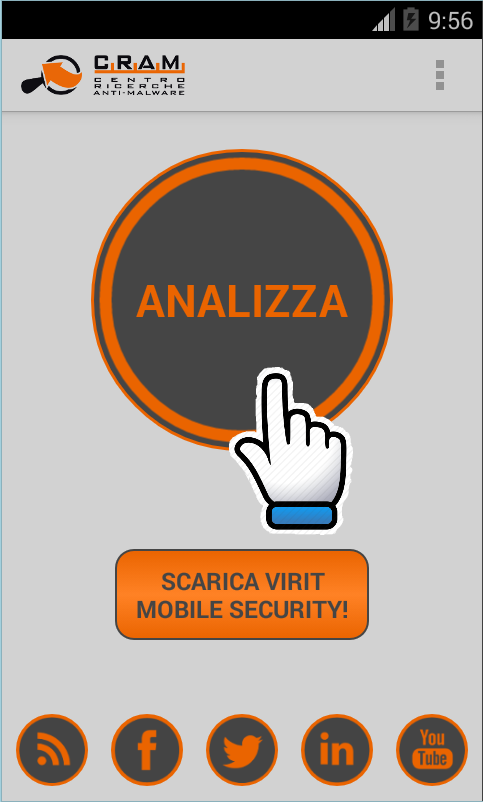 CRAM App Analyser: icona di avvio