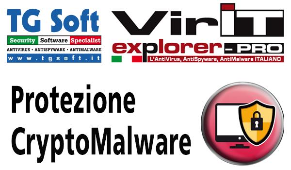 Tecnologie euristico-comportamentali AntiRansomware protezione Crypto-Malware. integrate in Vir.IT eXporer PRO