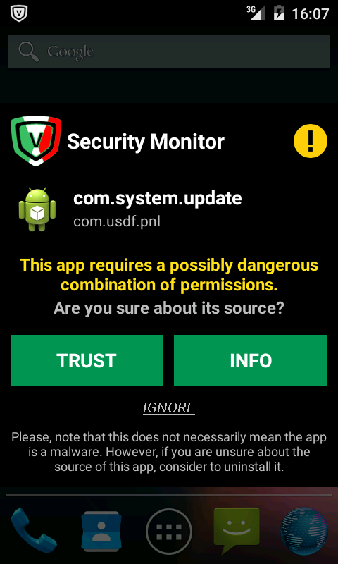 App Monitor of VirIT Mobile Security