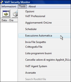 Invia file in Esecuzione Automatica - Vir.IT Security Monitor