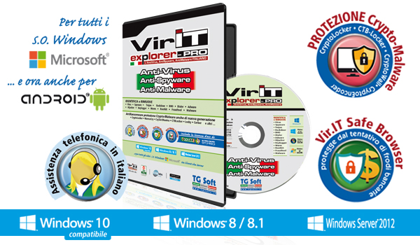 Vir.IT eXplorer PRO: the suite AntiVirus, AntiSpyware and AntiMalware also equipped with Anti-Crypto Malware