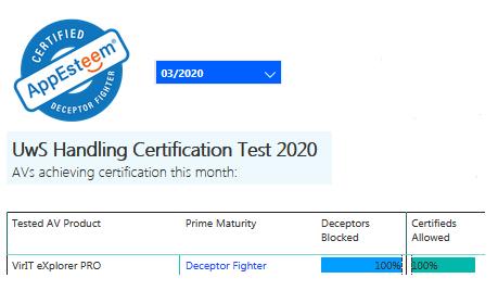 Certificazione AppEsteeem marzo 2020
