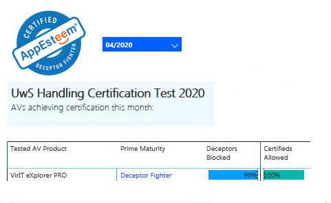Certificazione AppEsteeem aprile 2020
