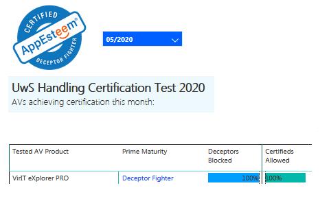 Certificazione AppEsteeem maggio 2020