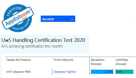 Certificazione AppEsteeem giugno 2020