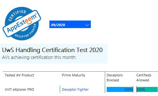 Certificazione AppEsteeem settembre 2020
