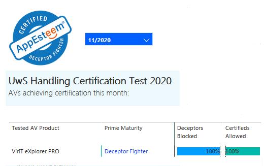 Certificazione AppEsteeem novembre 2020