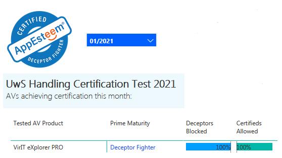 Certificazione AppEsteeem gennaio 2021