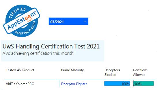 Certificazione AppEsteeem marzo 2021