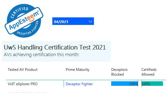 Certificazione AppEsteeem aprile 2021