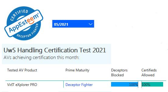 Certificazione AppEsteeem maggio 2021
