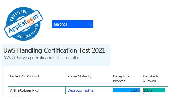 Certificazione AppEsteeem giugno 2021