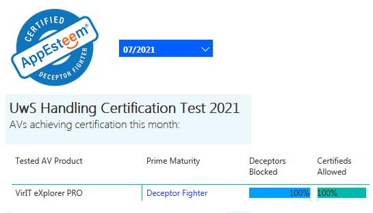 Certificazione AppEsteeem luglio 2021
