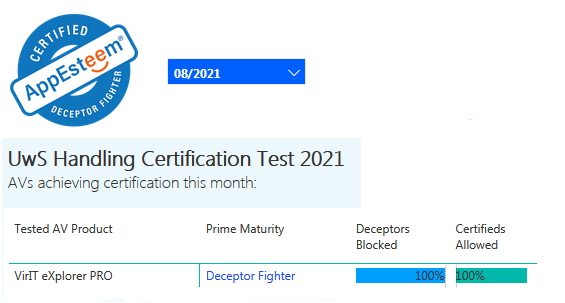 Certificazione AppEsteeem agosto 2021