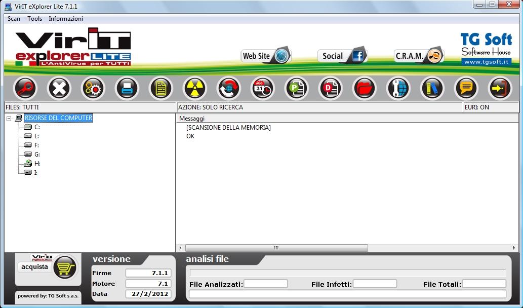 Nuova interfaccia Vir.IT eXplorer Lite: l'AntiVirus gratuito e liberamente utilizzabile