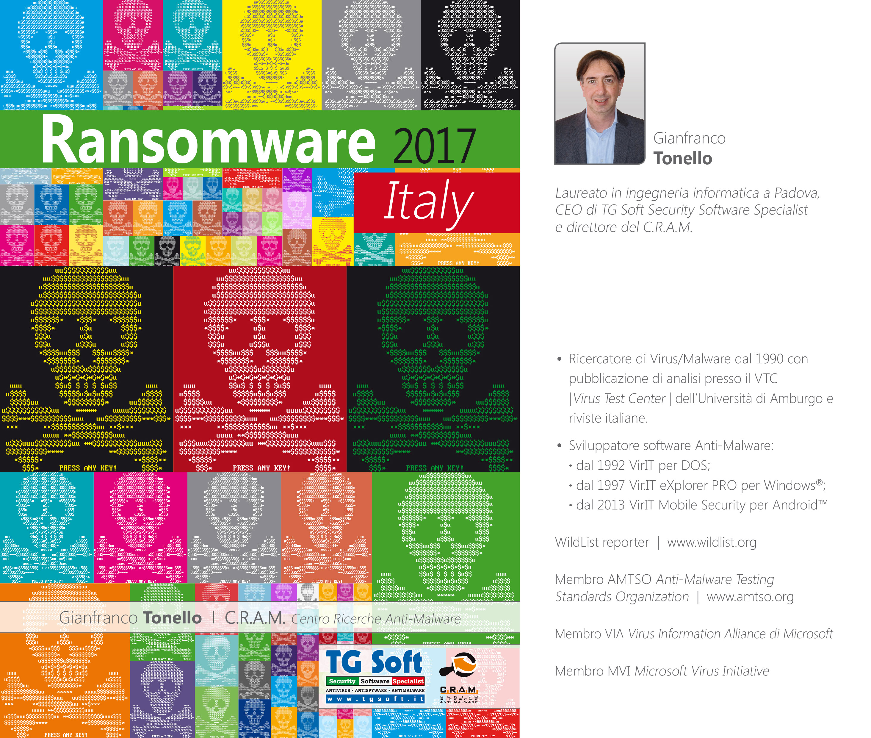 """La copertina del report sui Ransomware in ITALIA """"Ransomware 2017 Italy"""""""