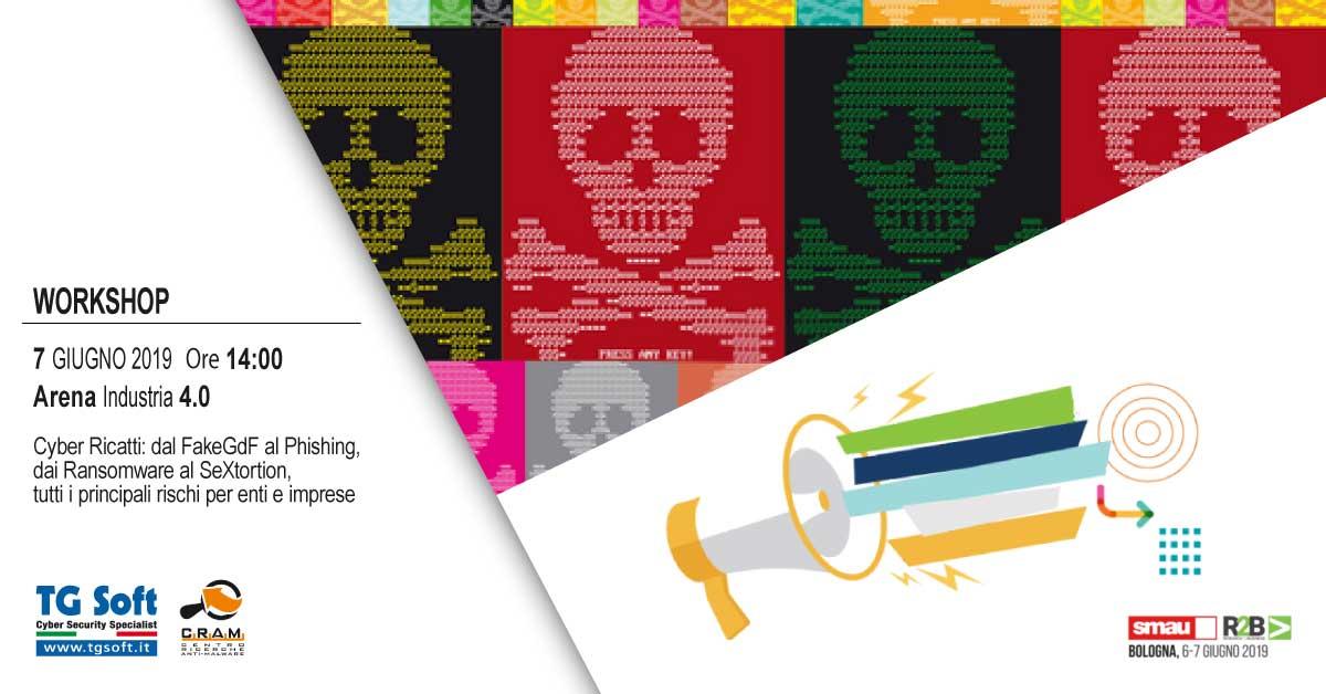 Clicca per iscriverti al Workshop del CRAM di TG Soft di Venerdì 7 Giugno sul sito di SMAU...