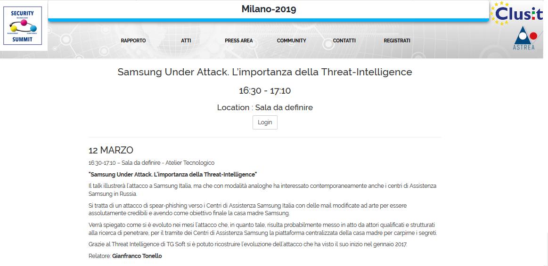 Clicca per accedere alla pagina dell'Atelier Tecnologico ''SUMSUNG Under Attack''
