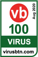 Logo VB100 by Virus Bulletin
